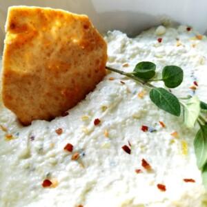 Htipiti (Greek Feta Dip)    Biscuits & Burlap