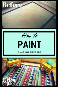 How to Paint a Natural Fiber Rug || Biscuits & Burlap