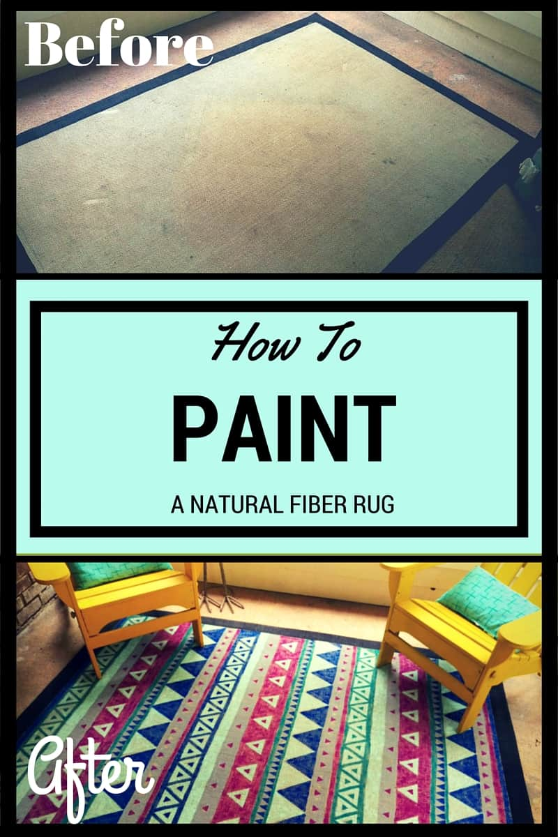 How to Paint a Natural Fiber Rug