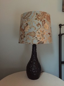 DIY Fabric Covered Lampshades || Biscuits & Burlap