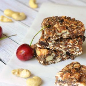 healthy snacks with chia seeds, oats, and almond butter from Biscuits & Burlap