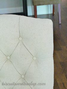 Southern Home Tour Linen Look Chairs
