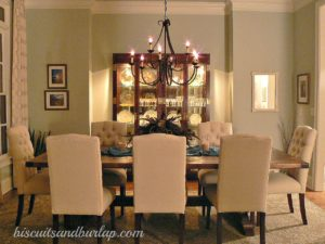 southern home tour dining room