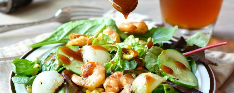 Barbecue Shrimp Salad with Grilled Corn and Vidalia Onions