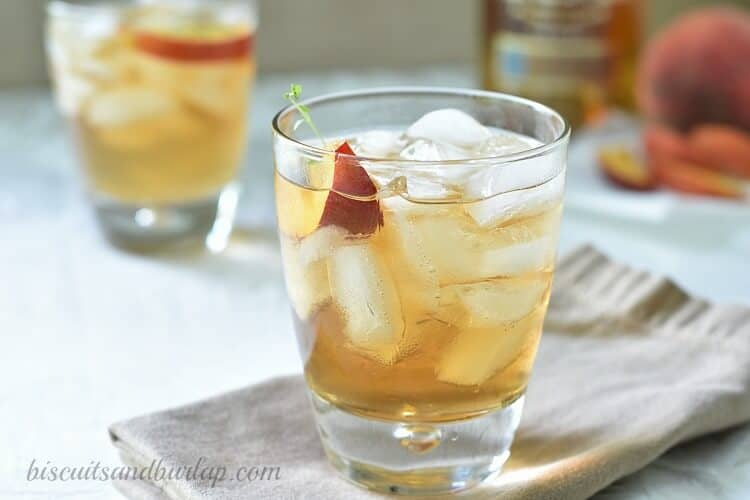 Grilled Peach Bourbon Cocktail