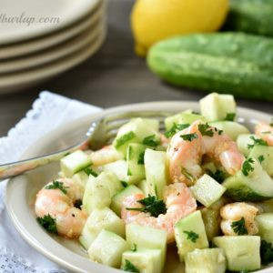 Spicy Cucumber and Shrimp Salad
