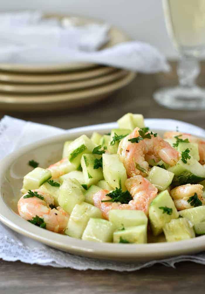 cucumber and shrimp salad