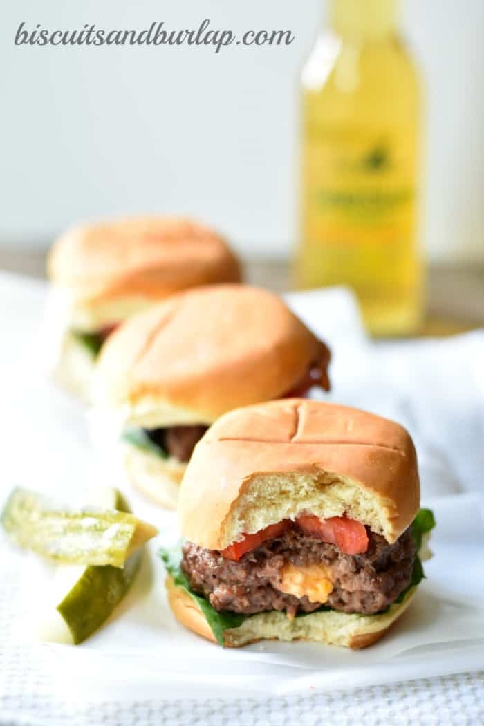 pimento cheese burger sliders