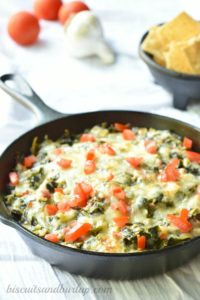 Collard Greens are the best for making the southern version of spinach dip. By BiscuitsandBurlap.com