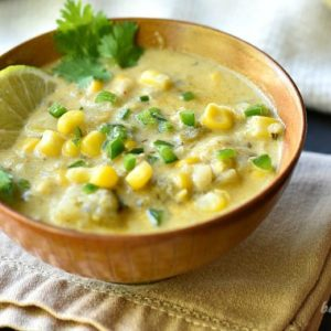 Roasted Poblano Corn Chowder