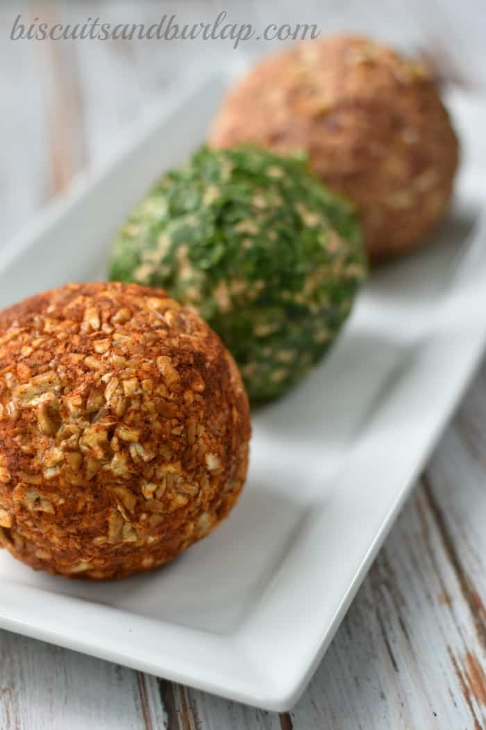 Cheese Ball with Pimento Cheese from BiscuitsandBurlap.com
