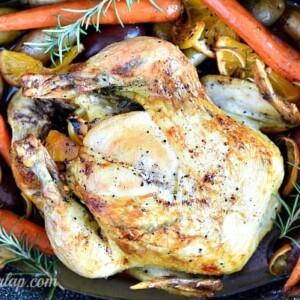 Citrus Rosemary Oven Roasted Chicken