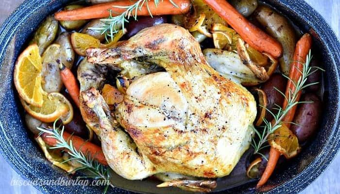 Citrus Rosemary Roasted Chicken
