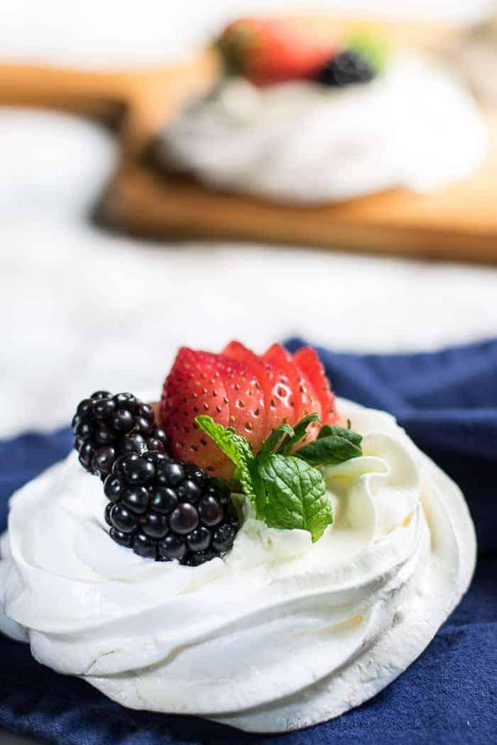Mini Pavlova desserts are something special. From BiscuitsandBurlap.com