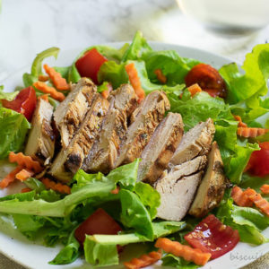 Marinated chicken breasts are grilled and then make the perfect entree, salad or sandwich