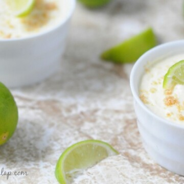 Key Lime Pie Pudding Shots from Biscuits and Burlap