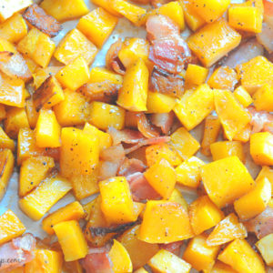 Maple Bourlbon Butternut Squash with Bacon