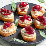 Turkey Crostini are a great way to use leftover turkey and cranberry sauce