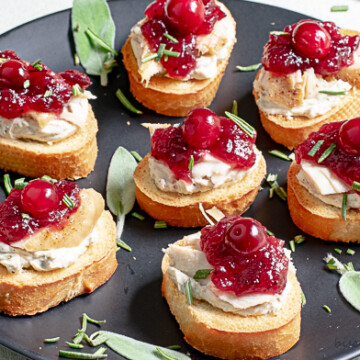 Turkey Crostini are a great way to use up turkey leftovers