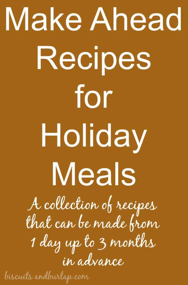 make ahead recipes