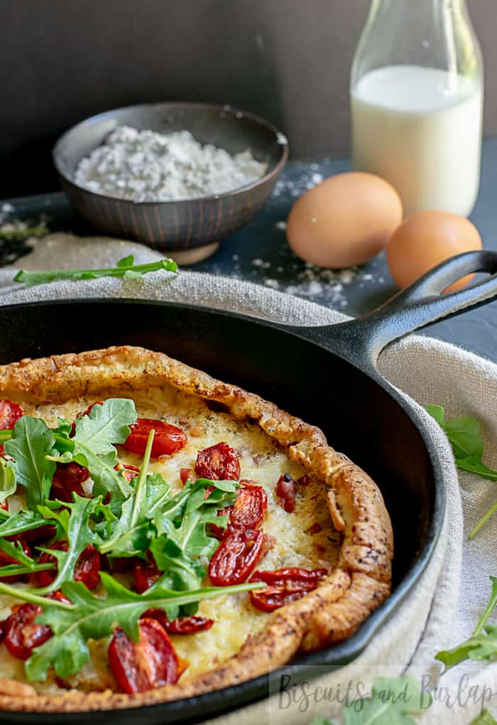 Savory Dutch Baby will impress everyone, but is so easy. It's the perfect dish for brunch or dinner.