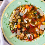 Italian Sausage Soup is a hearty soup full of flavorful vegetables and pasta.