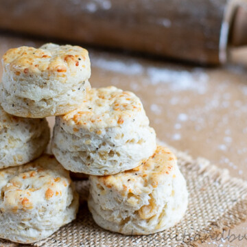 Asiago Cheese & Black pepper biscuits have just 4 ingredients!