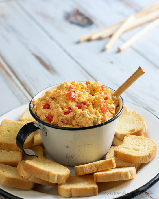 Spicy & Smoky homemade pimento cheese