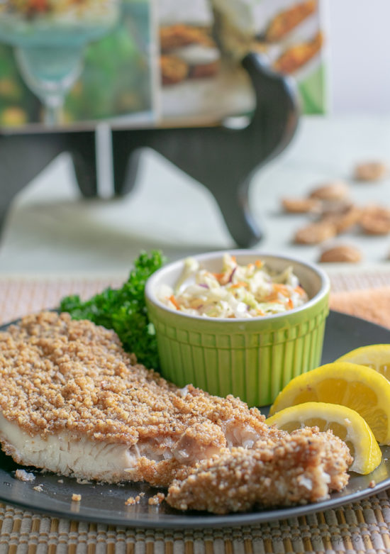 Pecan crusted catfish is a healthy alternative to fried fish