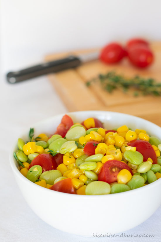 succotash is a versatile side dish and ours can be made classic or creamy