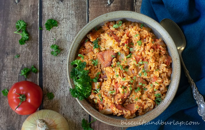 """Red Rice - Gullah Style is an adaptation from the cookbook Bittle en' T'ing"""""""