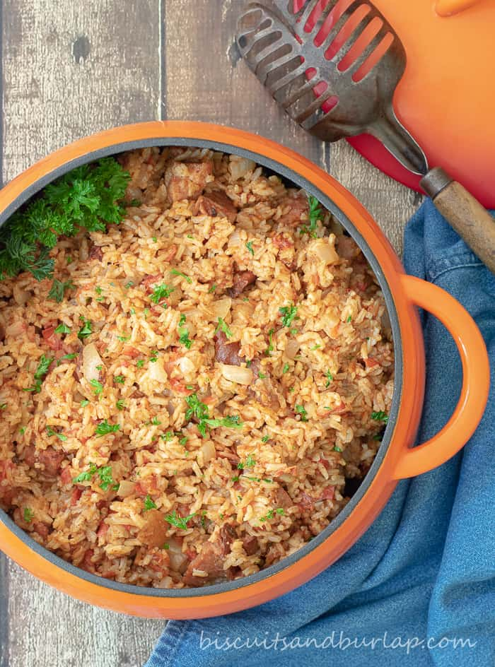 Red Rice - Gullah Style is an adaptation from the cookbook Bittle en' T'ing""