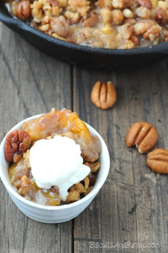 Peach Crumble with Butter Pecan Topping