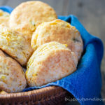biscuits with mexican cornbread flavors in basket