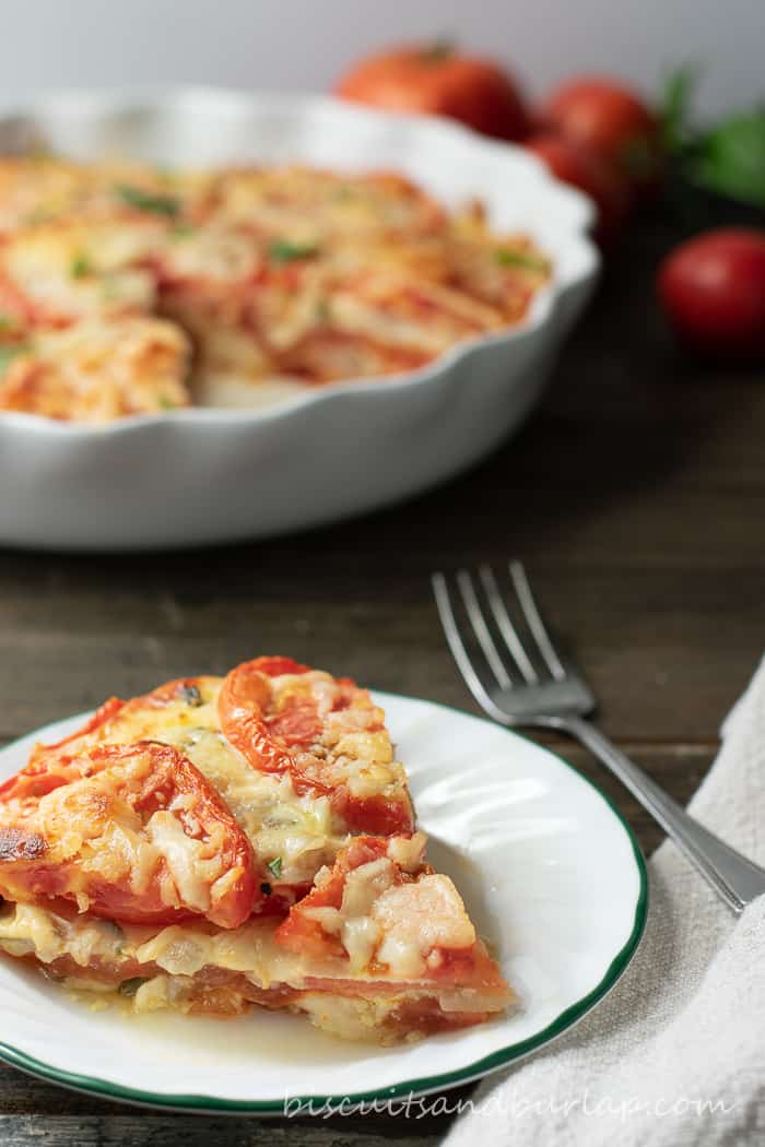 Crustless Tomato Pie