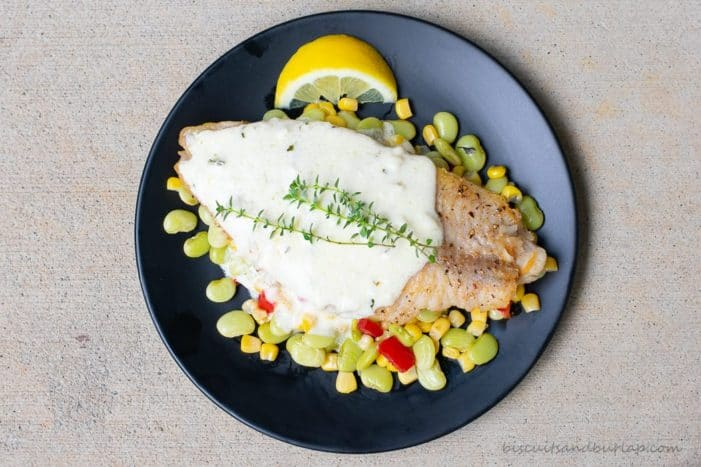 cathfish over succotash