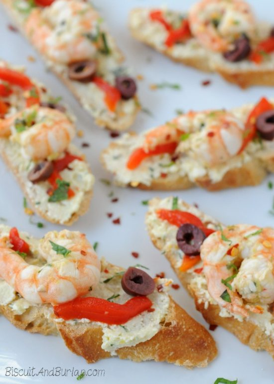 Greek Shrimp Crostini