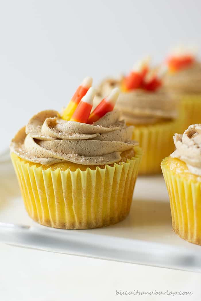 cupcakes with candy corn on top
