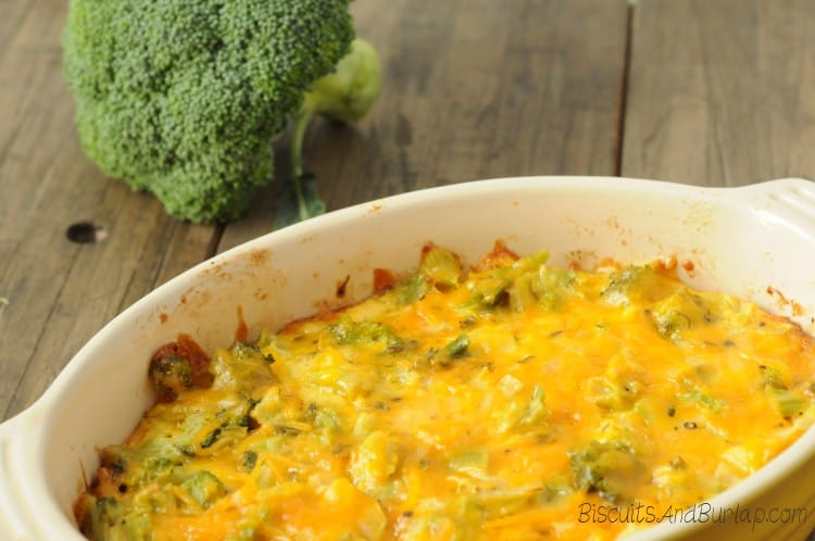 low carb broccoli casserole