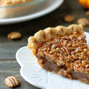 slice of pie with fork
