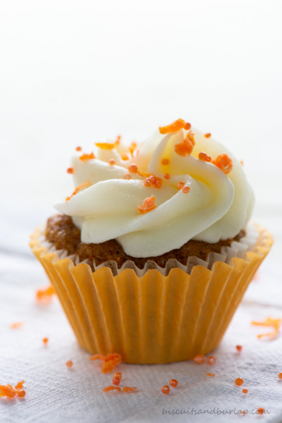 single carrot cake mini cupcake