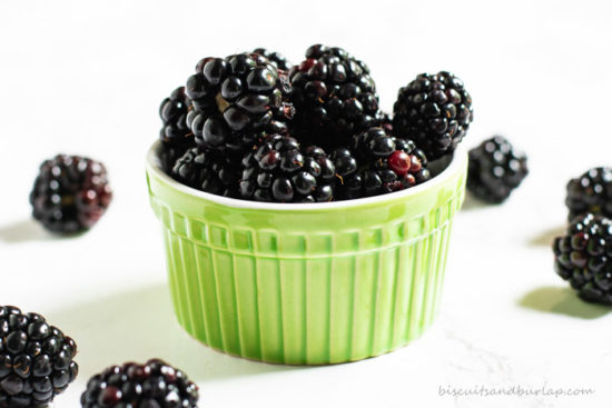 bowl of blackberries are food of the south