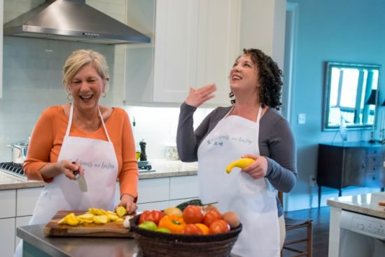 ladies laughing in the kitchen