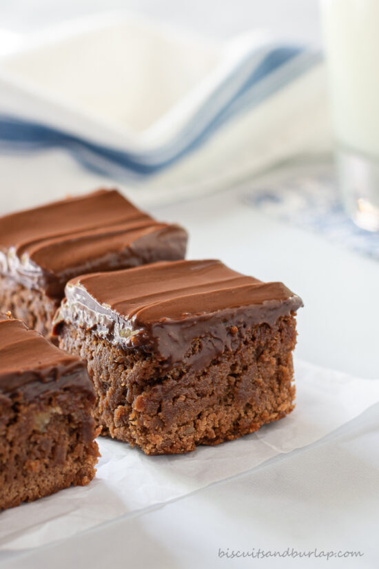 close up of foolproof brownies