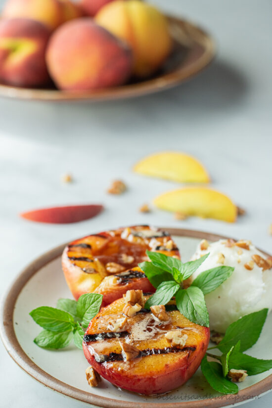 grilled peach haves