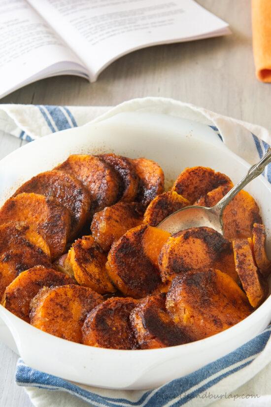 gullah recipe for sweet potatoes in white dish