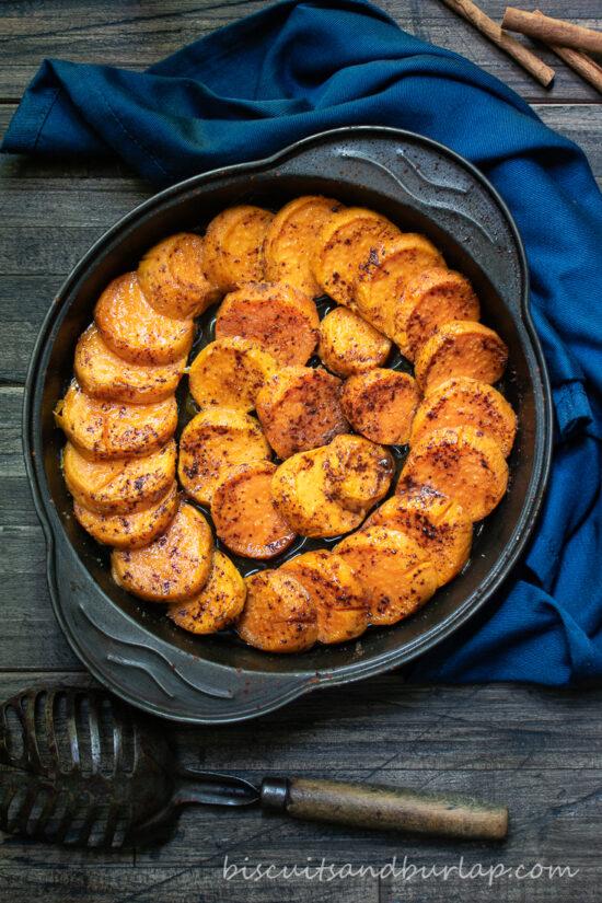 pan of sweet potatoes