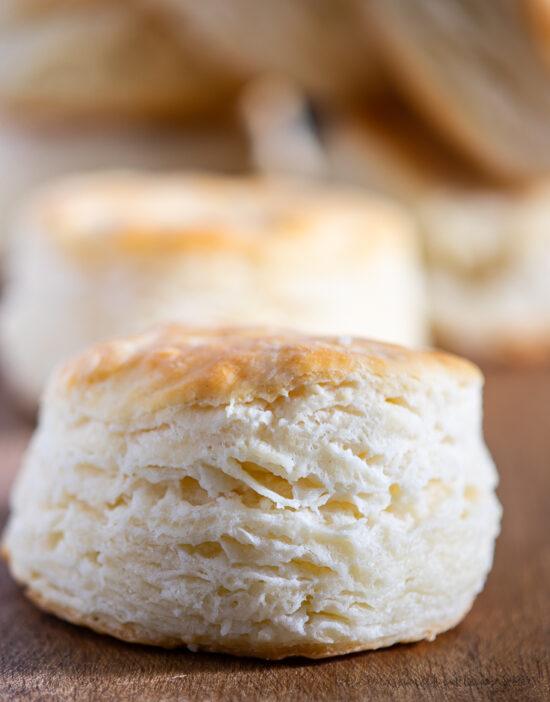 one single buttermilk biscuit