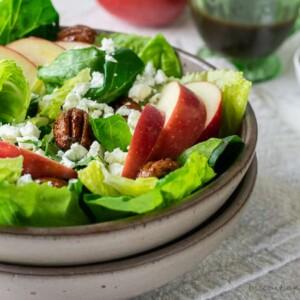 fall apple salad with cider vinaigrette