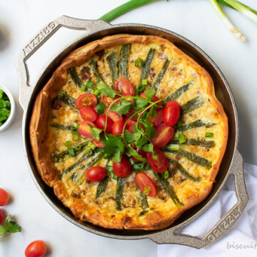 tex-mex dutch baby surrounded by ingredients